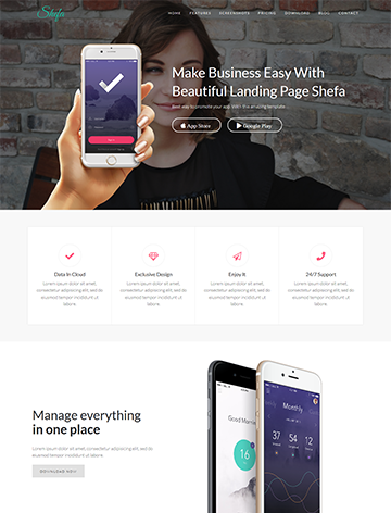 Shefa – One Page App WordPress Theme -