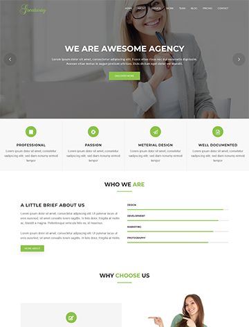 Greatway – Material Design WordPress Theme -