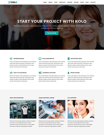 Kolo – Startup Landing Page WordPress Theme -