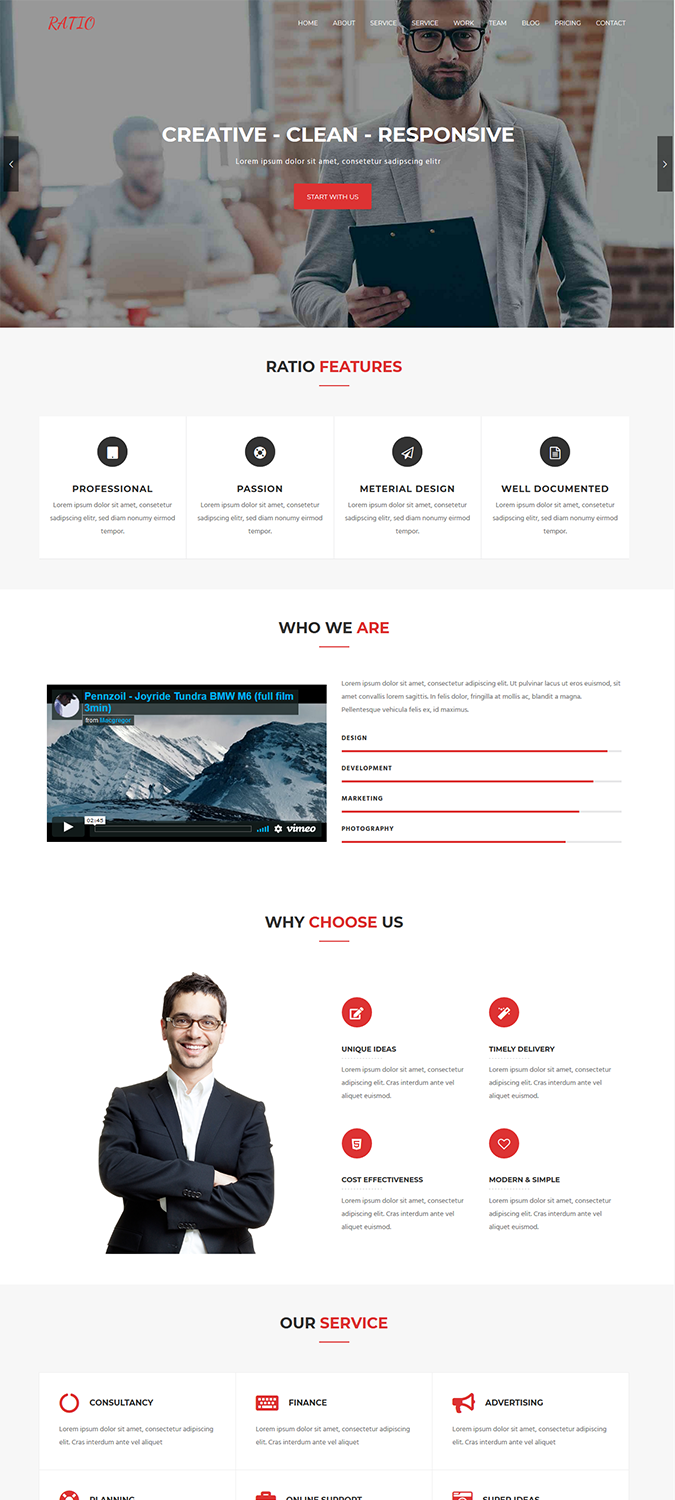 Ratio Lite – Material Design WordPress Theme -