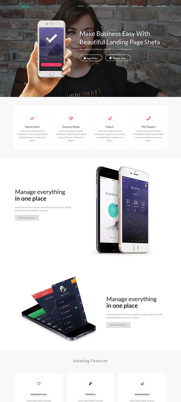 Shefa – One Page App WordPress Theme -