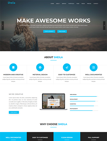 Sheila – Material Design Agency WordPress Theme -