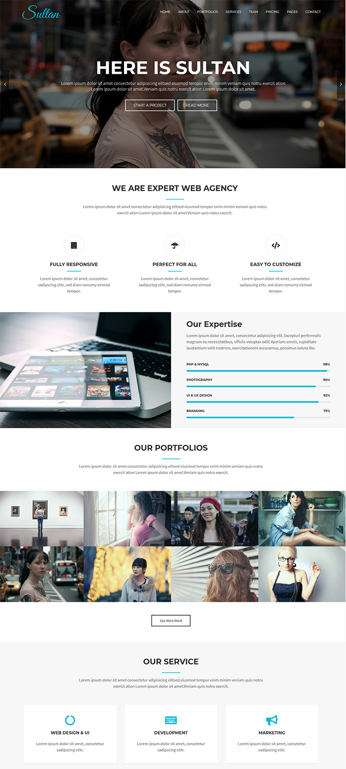 Sultan – One Page Business WordPress Theme -