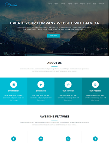 Alvida – One Page Business WordPress Theme -
