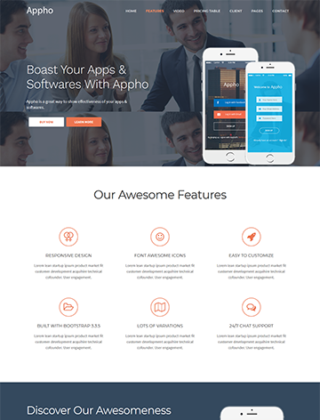 Appho – App Landing Page WordPress Theme -