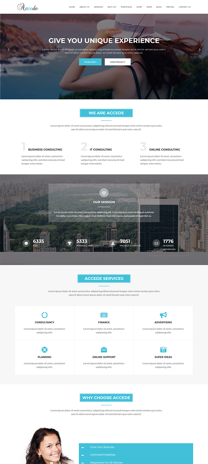 Accede – Digital Agency WordPress Theme -