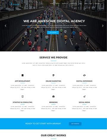 Ariana Lite – Digital Agency One Page WordPress Theme -