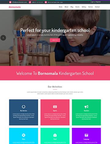 Bornomala – Kindergarten & School WordPress Theme -