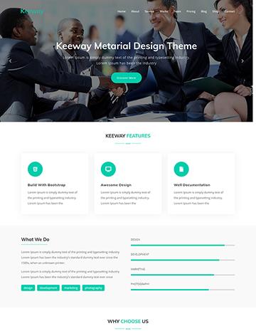 Keeway – Digital Agency One page WordPress Theme -