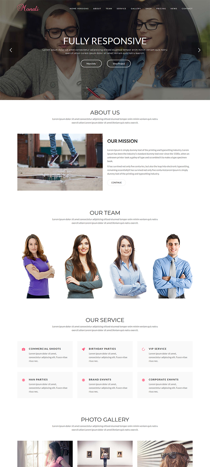 Monali – Business, Agency, Corporate WordPress Theme -