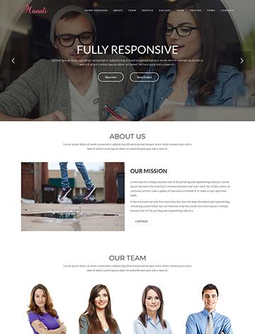 Monali – Business, Agency, Corporate WordPress Theme -