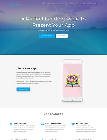 Salmon – One Page App WordPress Theme -
