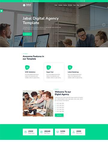 Jabal – Digital Agency One Page WordPress Theme -