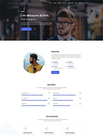 Emeli – Personal Resume and Portfolio WordPress Theme -